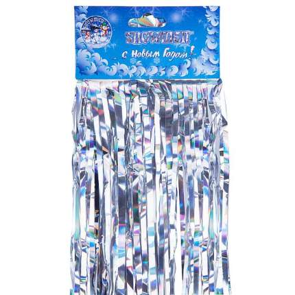 Дождик новогодний Snowmen Е60130 110 х 25 см серебристый