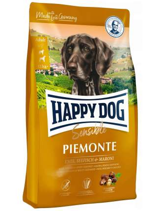 Сухой корм для собак Happy Dog Supreme Sensible Piemonte, утка и каштан, 10кг