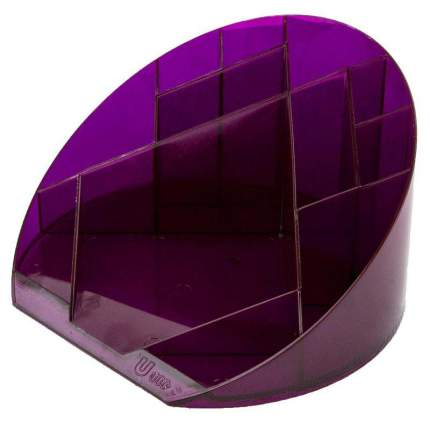 """Подставка для канцелярских мелочей """"Яркий офис"""", 12 отделений, прозрачный, цвет слива"""