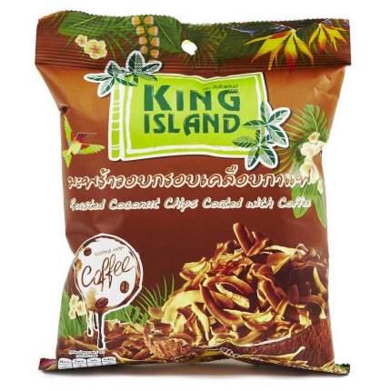 Кокосовые чипсы King Island в кофейной глазури  40 г