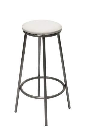 Барный стул Форпост Бари ФРПСТ.89166, серебристый/белая рептилия