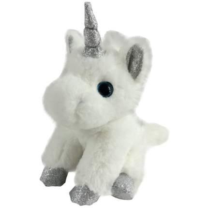 Мягкая игрушка Chuzhou Greenery Единорог белый с серебряными копытами M096