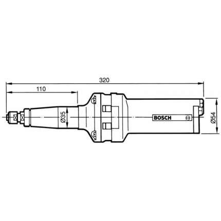 Полировальная пневмошлифмашина Bosch 6 мм 550 Вт 607252103