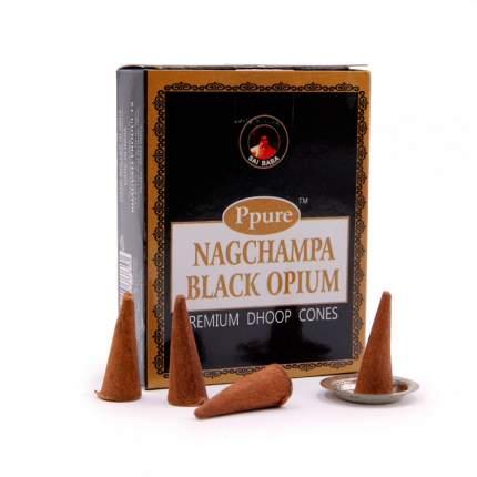 Благовония Конусы Ppure Black Opium Черный опиум