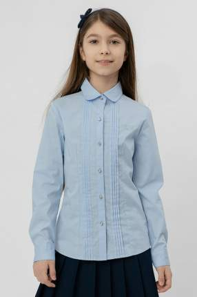 Блузка с бантиком Button Blue 220BBGS22041800 цв.голубой р.128