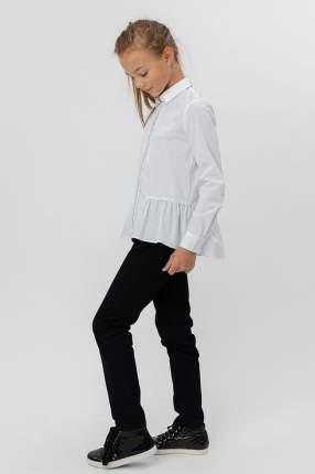 Блузка с баской и удлиненной спинкой Button Blue 220BBGS22110200 цв.белый р.146