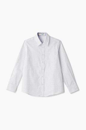 Рубашка для мальчика Button Blue, цв.белый, р-р 122