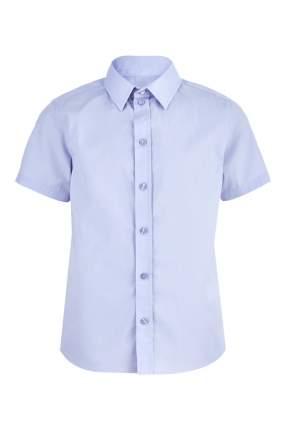 Рубашка для мальчика Button Blue, цв.голубой, р-р 122