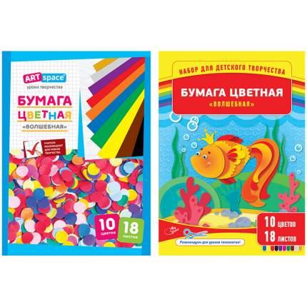 """Цветная бумага """"Волшебная"""", А4, 18 листов"""