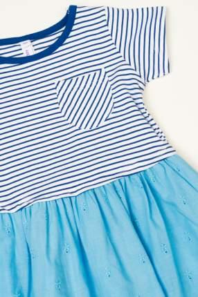 Платье для девочки PlayToday, цв.голубой, р-р 122