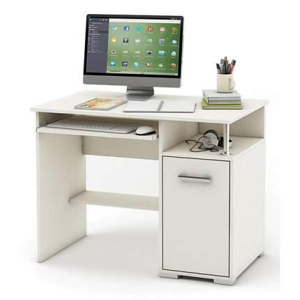 Компьютерный стол ВМФ Амбер-1 MAS_KSAM-1-BEL, белое дерево