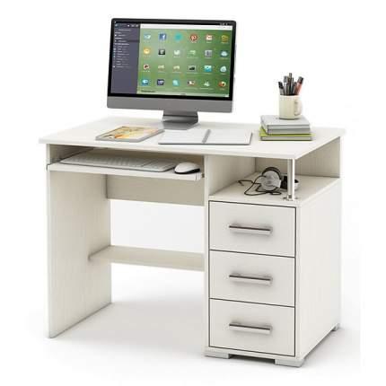 Компьютерный стол ВМФ Амбер-3 MAS_KSAM-3-BEL, белое дерево