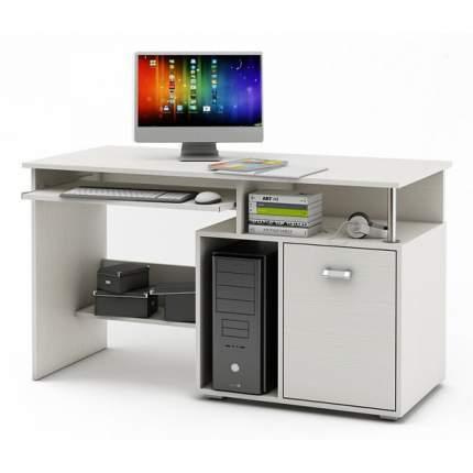 Компьютерный стол ВМФ Имидж-56 MAS_KSIM-56-BEL, белое дерево