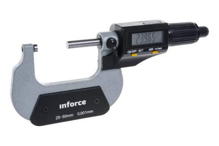 "Цифровой микрометр 25-50мм/1-2""*0.001мм/0.00005"" Inforce 06-11-45"