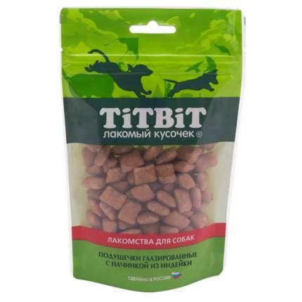 Лакомство для собак TiTBiT Золотая коллекция, подушечки, индейка, 100г