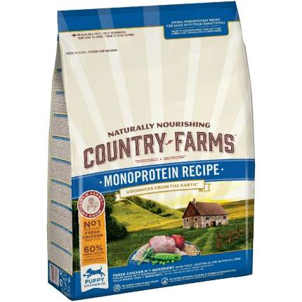 Сухой корм для собак Country Farms Monoprotein Recipe , курица, 11кг