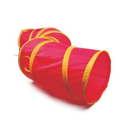 Тоннель для кошек Major Colour шуршащий розовый, 25*110см