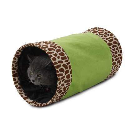 Тоннель для кошек Major Colour шуршащий, зеленый, 25*50см