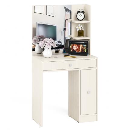 Туалетный столик с зеркалом Мебельный Двор МД № 3 дуб, 70х38х135 см