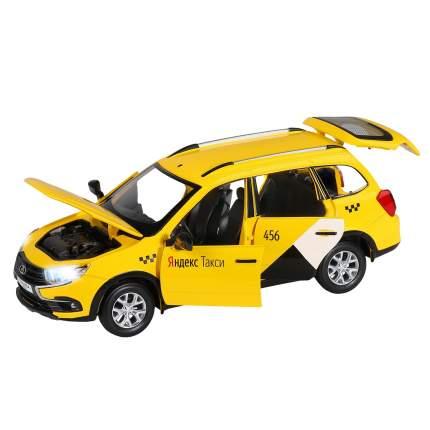 Машинка Автопанорама Lada Granta Cross Яндекс Такси, 1/24, жёлтая, инерционная JB1251347