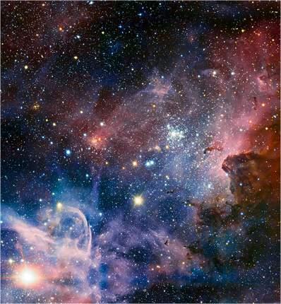 "Картина на холсте с подрамником ХитАрт ""Свет далёких звёзд"" 40x27 см"
