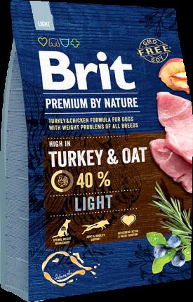 Корм для собак Brit Premium Light, 15кг