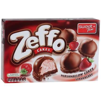 Пирожное Zeffo маршмеллоу  с ароматом клубники в какао-молочной глазури 150 г