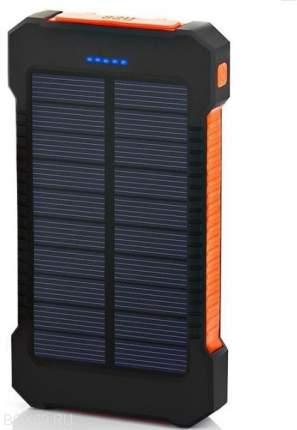 Внешний аккумулятор Power Bank с солнечной батарей 10000 мАч, оранжевый
