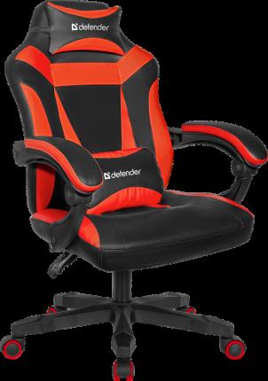 Игровое кресло Defender Master Черный/Красный,полиуретан,50мм