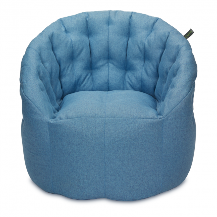 Кресло мешок «Австралия», жаккард, Небесно-голубой