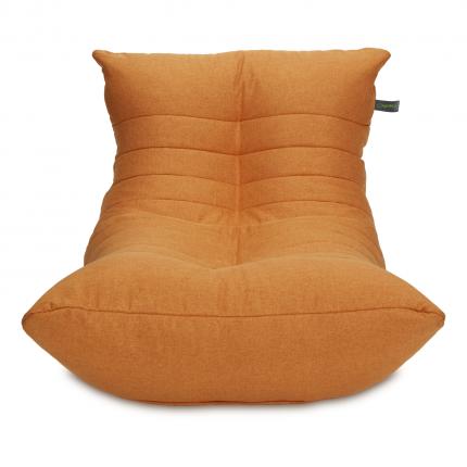 Кресло мешок «Кокон», жаккард, Мандариновый