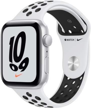 Смарт-часы Apple Watch Nike SE GPS, 44mm Silver with Pure Platinum/Black Nike Sport Band