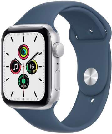 Смарт-часы Apple Watch SE GPS, 44mm Silver with Abyss Blue Sport Band