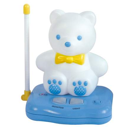 Устройство звукового контроля за ребенком Care Мишка, радионяня со светильником,2 адаптора