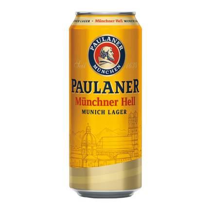 Пиво Пауланер Мюнхен. свет.4,9% ж/б 0,5л