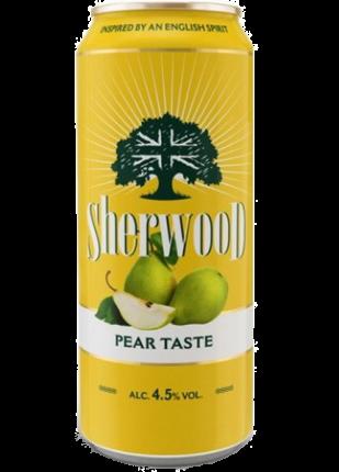 Сидр Шервуд груша сладкий 4,5% 0,5 жб