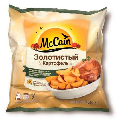 Картофель McCain Золотистый дольки в кожуре быстрозамороженный