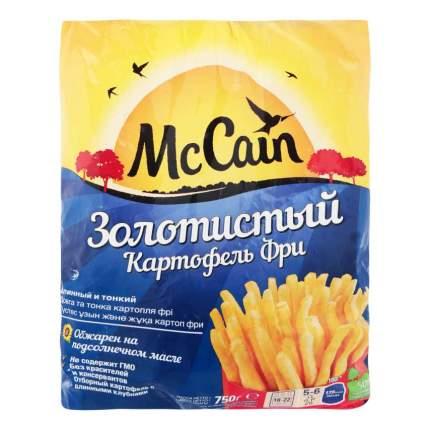 Картофель фри McCain Золотистый длинный и тонкий замороженный