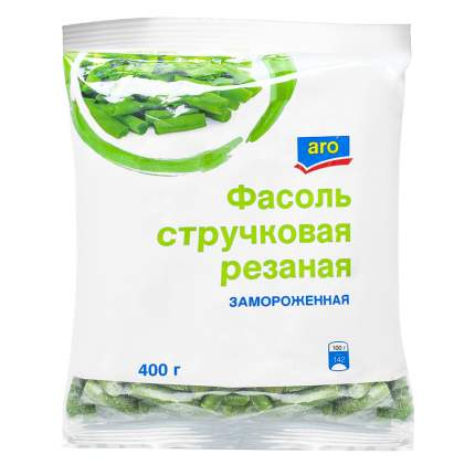 Фасоль Aro зеленая резаная замороженная