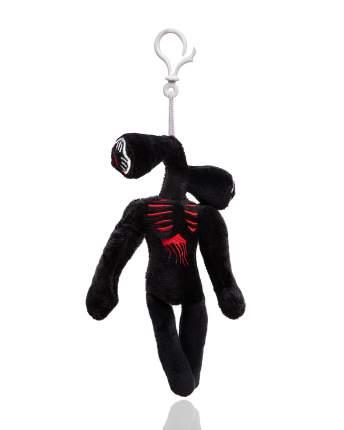 Мягкая игрушка монстр Siren Head сиреноголовый черный длинноногий с карабином, 20 см