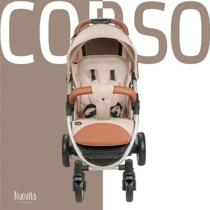 Прогулочная коляска Nuovita Corso Beige, Argento