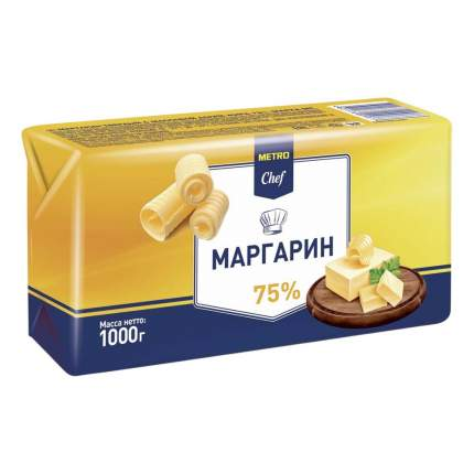 Маргарин Metro Chef 75% 1 кг