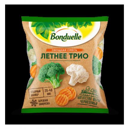 Овощная смесь Bonduelle Летнее трио свежезамороженная 0,4 кг