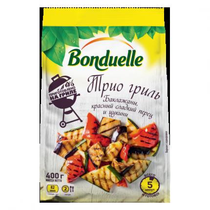 Овощная смесь Bonduelle Трио гриль быстрозамороженная 400 г