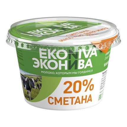 Сметана ЭкоНива 20% БЗМЖ 200 г