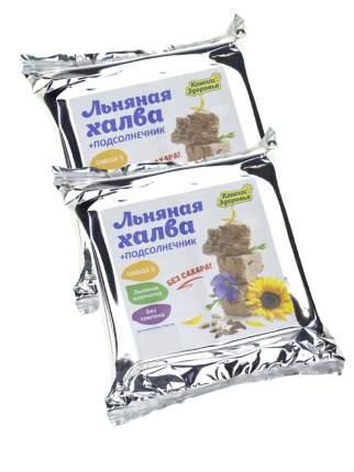 Халва подсолнечно-льняная с семенами льна НАБОР 2*250 гр, Компас здоровья