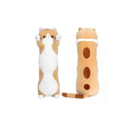 Мягкая игрушка-антистресс Кошка-батон, длинный кот рыжий 70 см