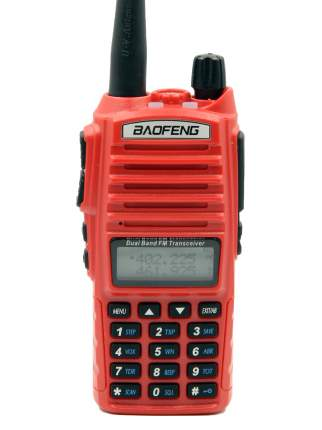 Рация (радиостанция) Baofeng UV-82 5W, красная