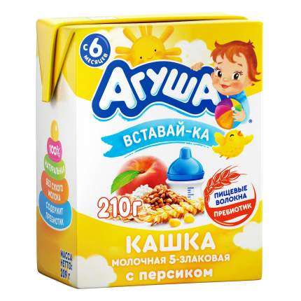Каша Агуша персик/злаки 2,5% 200 мл