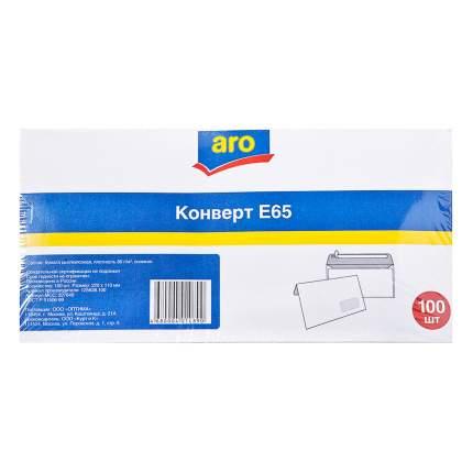 Конверт Aro силикон белый Е65 110 х 220 мм 100 штук